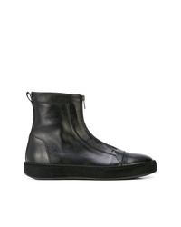 Ann Demeulemeester High Stretch Leather Sneakers