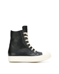 Rick Owens Lace Up Hi Top Sneakers