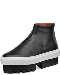 Givenchy Leather High Top Platform Skate Sneaker Black