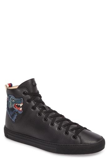 91281972472f14 Gucci Major Angry Wolf Sneaker, $730 | Nordstrom | Lookastic.com