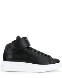 Men's Leather High Top Sneakers by Alexander McQueen | Men's ...
