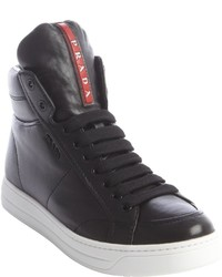 Prada Sport Black Leather High Tops