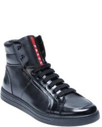 Men's PradaFashion Top High By Black Sneakers FJclK1