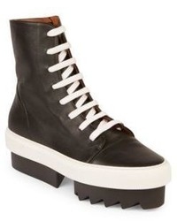 Givenchy Street Leather Lace Up Platform Sneakers