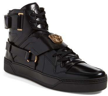 b02bc505655 ... Leather High Top Sneakers Gucci Tiger High Top Sneaker ...