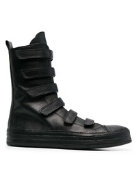 Ann Demeulemeester Touch Strap High Top Sneakers