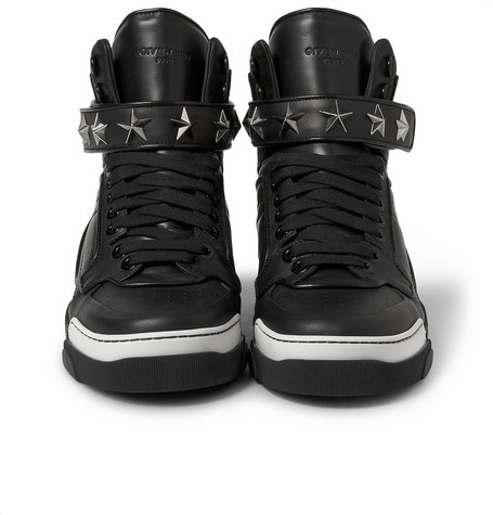 ... Givenchy Tyson High Top Leather Sneakers With Stars