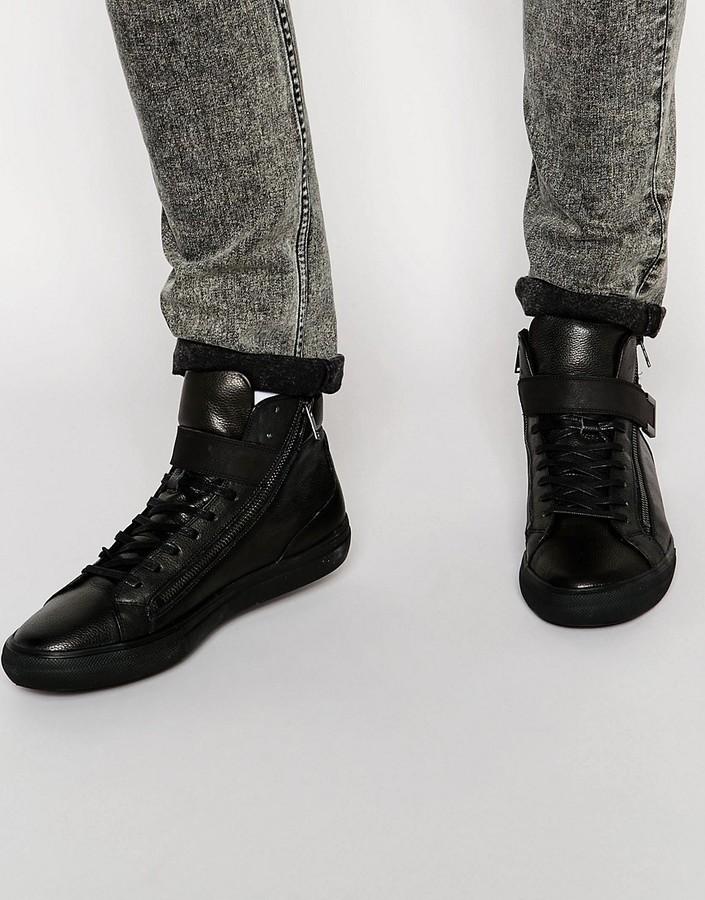 Aldo Weberville Leather High Tops, $119