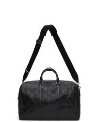 Gucci Black Signature Weekender Duffle Bag