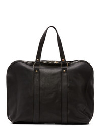 Guidi Black Small Expandable Weekender Bag