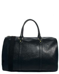 Asos Brand Smart Carryall In Black Faux Leather