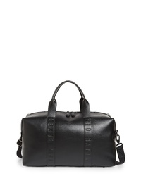 Ted Baker London Debossed Faux Leather Duffel Bag