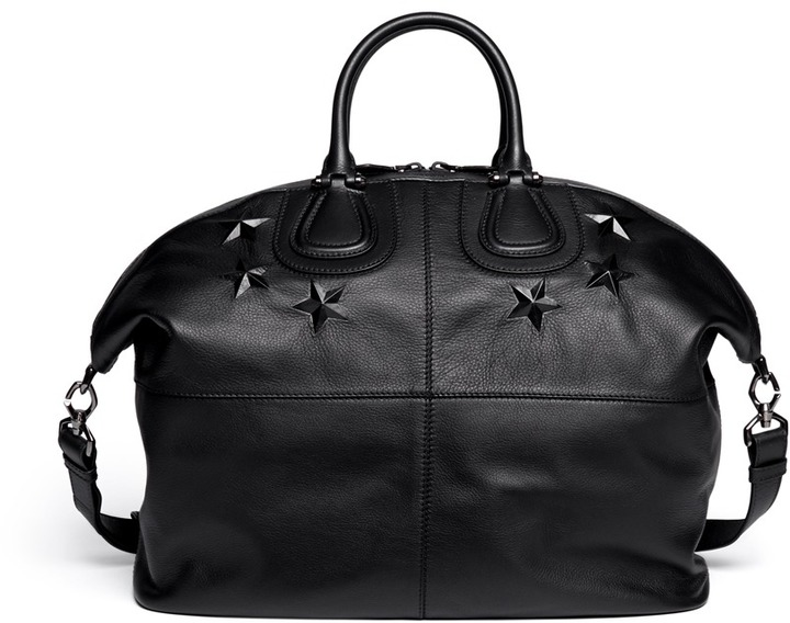 ee51061860 ... Black Leather Holdalls Givenchy Nightingale Star Embossed Leather Bag  ...