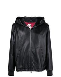 Alexander McQueen Hooded Leather Jacket