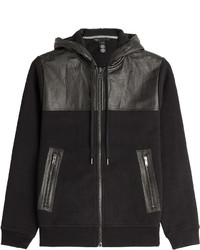 Marc by Marc Jacobs Leather Detailed Hoodie