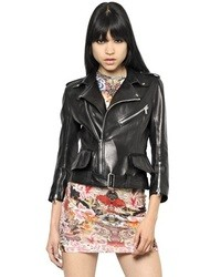 Alexander McQueen Soft Nappa Leather Biker Jacket