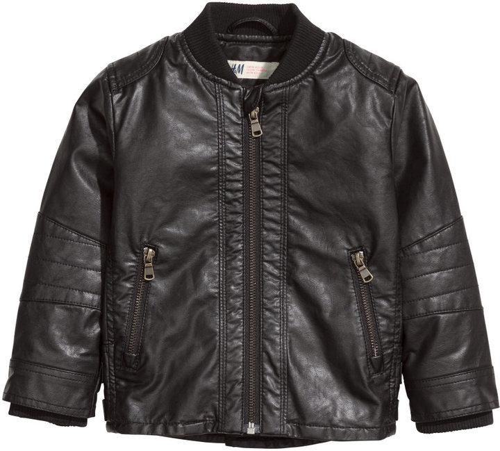 9dd6f58a2 H&M Biker Jacket Black Kids, $34 | H & M | Lookastic.com