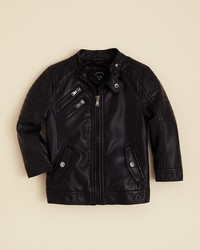 Urban Republic Boys Faux Leather Moto Jacket Sizes 2t 4t