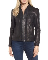 Braid detail leather jacket medium 4953402
