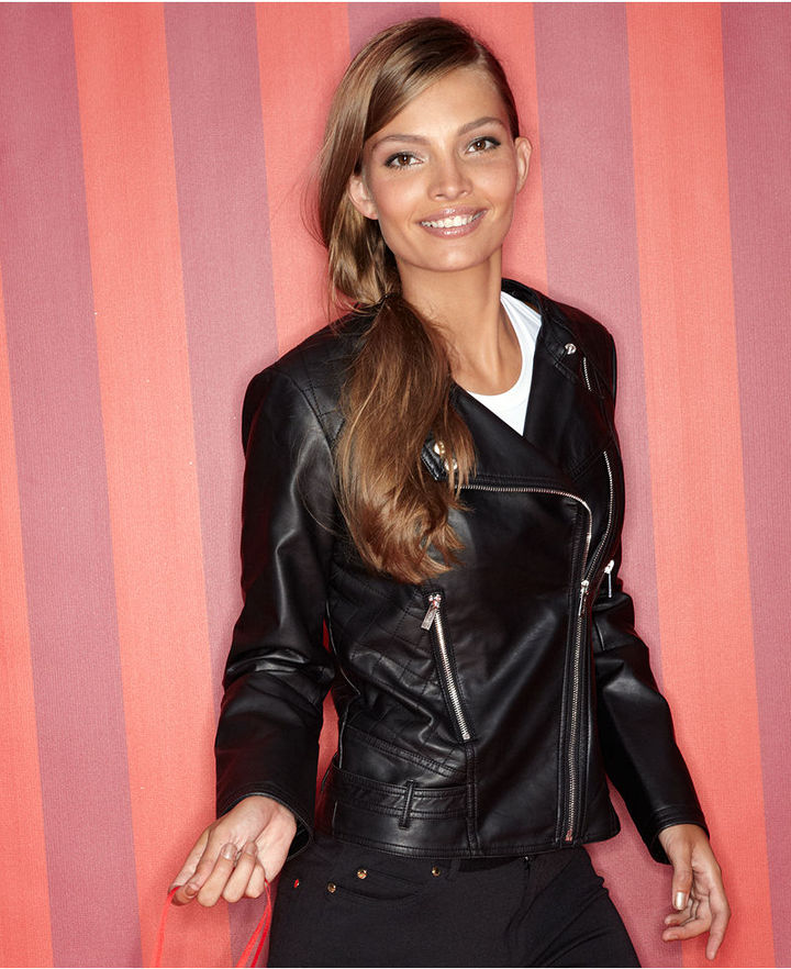 how to wear a faux leather jacket