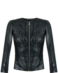 81727e80e7 Women's Black Leather Jackets by Versace | Women's Fashion