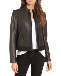 Colorblock leather jacket medium 4951097