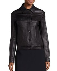 The Row Coltra Leather Jacket