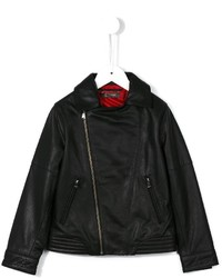 Dondup Kids Zip Up Biker Jacket