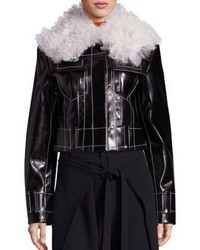 Proenza Schouler Faux Fur Faux Leather Jacket