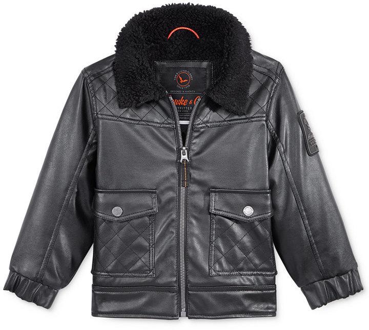 Boys Faux Leather Bomber Jacket | Designer Jackets