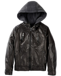 Urban Republic Faux Leather Fleece Hood Jacket