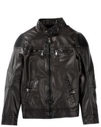 Urban Republic Faux Leather Ribbing Jacket