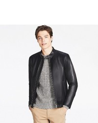 Uniqlo Faux Leather Single Breasted Jacket