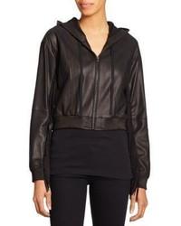 Elizabeth and James Fringe Trim Leather Jacket