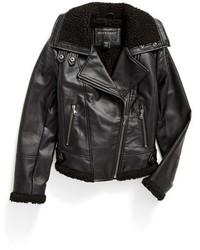 Bernardo Girls Faux Leather Moto Jacket