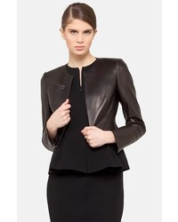 Akris Hasso Leather Crop Jacket