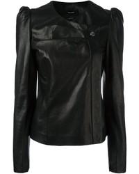 Isabel Marant Structured Shoulder Leather Jacket
