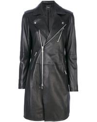 Theory Long Leather Jacket