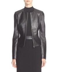 Michael Kors Michl Kors Plong Leather Jacket