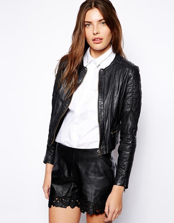 Muu Baa Muubaa Mao Collarless Leather Jacket | Where to buy & how ...