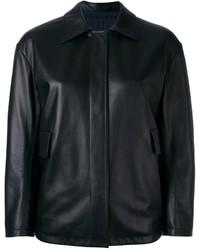 Reversible leather jacket medium 848006