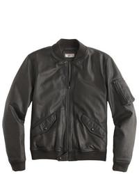 J.Crew Wallace Barnes Ma 1 Leather Jacket