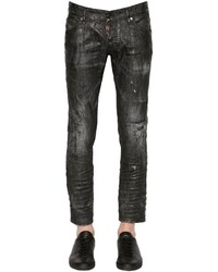 DSQUARED2 165cm Clet Coated Denim Jeans