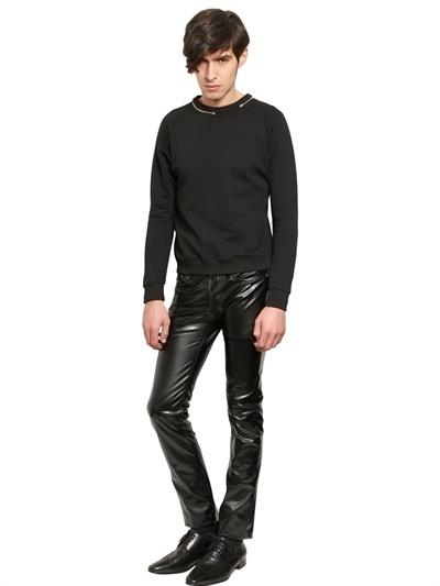 7a01ed2452b4 Saint Laurent 175cm Stretch Faux Leather Jeans