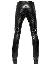 6117b2f4a78b ... Saint Laurent 175cm Stretch Faux Leather Jeans ...