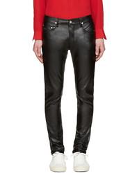 April77 black faux leather joey lezzer jeans medium 590242