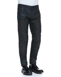 G Star Black Coated 5620 Tapered Jeans