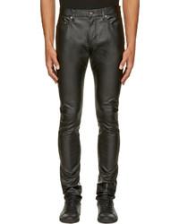 b228034f0683 Saint Laurent 175cm Stretch Faux Leather Jeans Out of stock · Saint Laurent  Black Grained Leather Slim Jeans