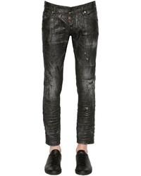 DSQUARED2 165cm Clet Coated Denim Jeans