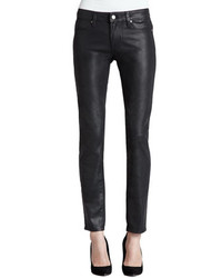 Paige Denim Verdugo Ultra Skinny Coated Jeans Aged Black